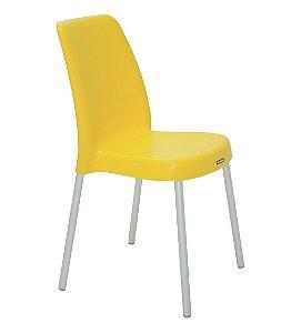 Cadeira Sem Bracos Pernas Anodizadas Summa Tramontina Amarelo 52 Cm