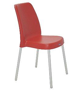 Cadeira Sem Bracos Pernas Anodizadas Summa Tramontina Vermelho 52 Cm