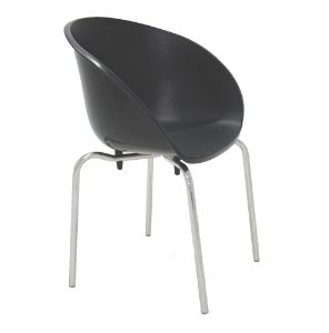 Cadeiras Sem Bracos Pernas Polidas Summa Tramontina Preto 54 Cm
