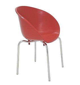 Cadeira em Polipropileno Pernas Polidas Summa Tramontina Vermelho 54 Cm