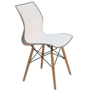 Cadeira em Polipropileno Base 3d Summa Tramontina Branco e Marrom 56 Cm