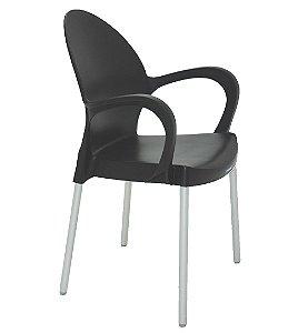 Cadeira em Polipropileno Summa Tramontina Preto 54 Cm