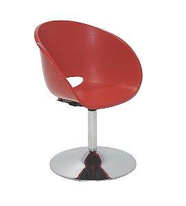 Cadeira com Base Central Cromada Summa Tramontina Vermelho 51 Cm