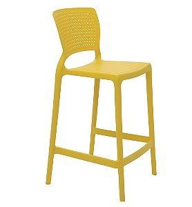 Cadeira Alta em Polipropileno Summa Tramontina Amarelo 94 Cm