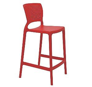 Cadeira Alta em Polipropileno Summa Tramontina Vermelho 94 Cm