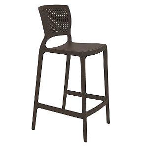 Cadeira Alta em Polipropileno Summa Tramontina Marrom 94 Cm