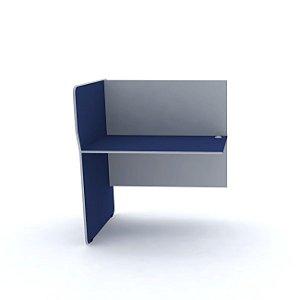 Complemento Estacao de Telemarketing Simples  Maxxi Pandin Azul e Cinza  1,20 M