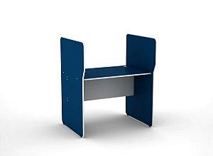 Estacao de Atendimento Simples Inicial Maxxi Pandin Azul e Cinza  1,20 M