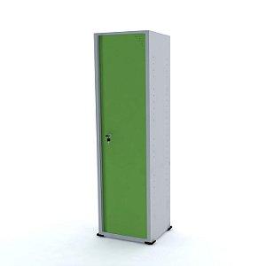 Armario de Aco 01 Porta Pandin Cinza e Verde Miro  1,70 M