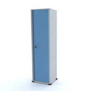 Armario de Aco 01 Porta Pandin Cinza e Azul Dali  1,70 M