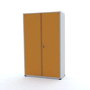 Armario de Aco 02 Portas Pandin Cinza e Laranja Picasso  2,00 M