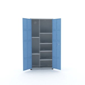 Armario de Aco Montavel Multiuso Ap402mu Pandin Cinza e Azul Dali  2,00 M