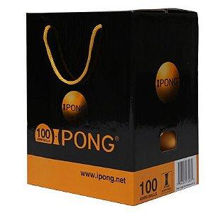 Bola iPong 40+ Laranja - Caixa com 100 bolas
