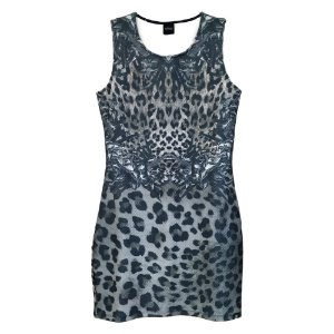 Vestido Estampado Animal Print - Gris