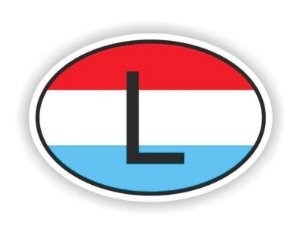 Sticker Luxembourg para Carros