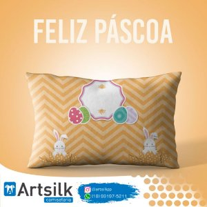 Capa de Almofada Coelho Laranja