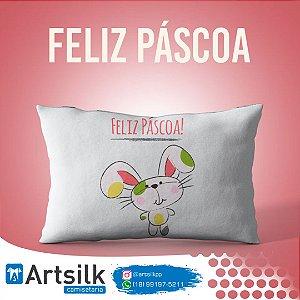 Capa de Almofada Feliz Páscoa Coelho