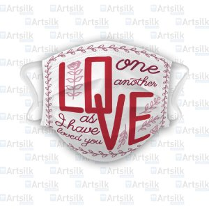 Máscara Personalizada Love One Another As I Have Loved You (021)