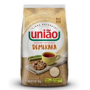 AÇÚCAR CRISTAL UNIAO 1KG DEMERARA