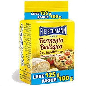 FERMENTO INSTANTÂNEO FLEISCHMANN LEVE 125G PAGUE 100G