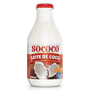 LEITE DE COCO SOCOCO 200ML VIDRO