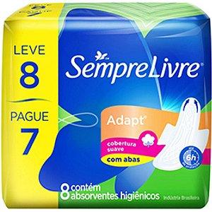 ABSORVENTE SEMPRE LIVRE C/8 ADAPT C/AB LV8PG7