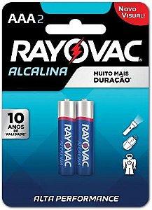 PILHA RAYOVAC ALCALINA PTO C/2 AAA
