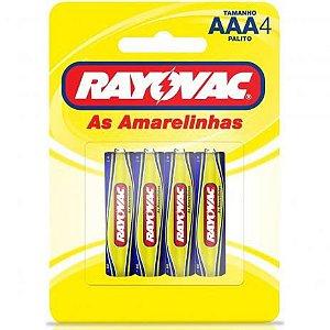 PILHA RAYOVAC AAA C/4