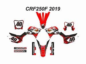 KIT AGUIA - PLATE + FAROL - CRF 250F 2019 A 2021 - Nº.40