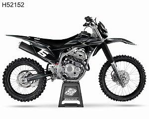 KIT GRÁFICO CRF 250 F 2019 A 2022 - KIT BLACK - H52152