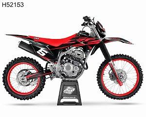KIT GRÁFICO CRF 250 F 2019 A 2022 - KIT RED - H52153