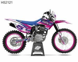 KIT GRÁFICO CRF 230 F 2015 A 2020 - 5INCO PINK BLUE - H52121