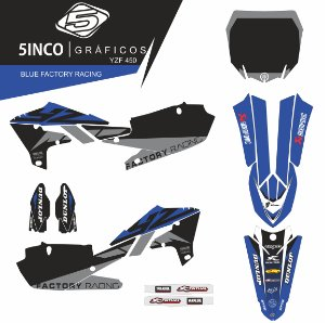 Kit Adesivo 3M Blue Factory Racing YZ 450F