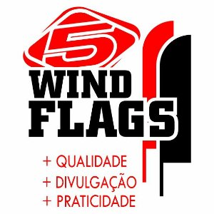 Wind Flags Personalizados 3,0 x 0,70 - 5inco