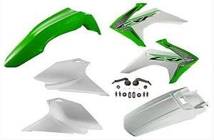 Kit Plástico Avtec Crf 230 2015 - 2018 Verde