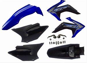 Kit Plástico Avtec Crf 230 2015 - 2018 Azul - Preto