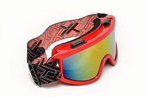Óculos espelhado Mattos Racing Vermelho