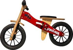 Bicicleta Infantil De Madeira Aro 12 -  Spider Man