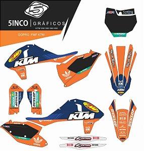 Kit Adesivo 3M  GoPro FMF KTM 250 2017