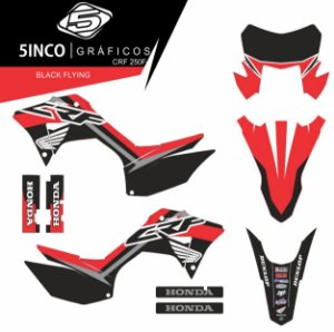 Kit Adesivo 3M Black Flying CRF 250F 2019