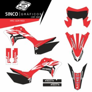 Kit Adesivo 3M Gdr Red CRF 250F 2019