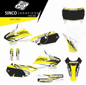 Kit Adesivo 3M  5inco New DRZ 400