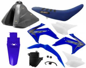 Kit Plastico Crf 230 2019 Protork Azul Adaptável Xr 200