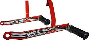 Suporte De Pedaleira Traseira CRF 230 - Vermelho