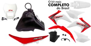 Kit Plastico Crf 230 2018 Protork Adaptável Xr 200+carenagem