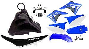 Kit Plastico Elite Biker Crf 230 Adaptável Xr 200 Azul