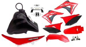 Kit Plastico Elite Biker Crf 230 Adaptável Xr 200 Vm/pt
