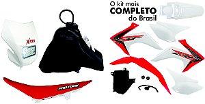 Kit Plastico Crf 230 2018 Protork Adaptável Xr 200 + Farol