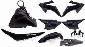 Kit Plastico Crf 230 2018 Avtec Adaptável Bros - Xtz Preto