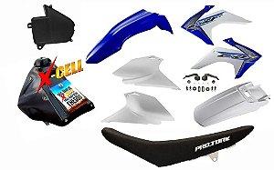 Kit CRF 230 F 2015 a 2020 - Avtec Azul Adaptável XR 200 - XR 250 Tornado